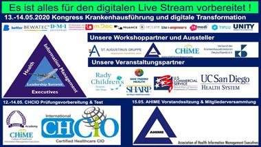 Kongress zu Krankenhausführung und digitale Transformation als Live-Stream