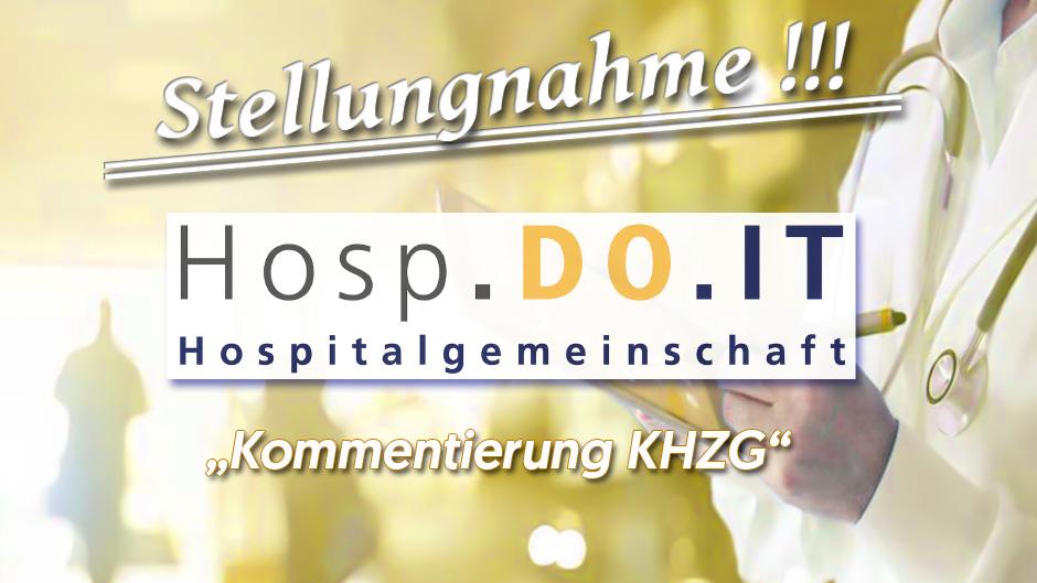 Stellungnahme zum KHZG durch die Hospitalgemeinschaft HospDoIT